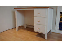 Desk with matching single bed.