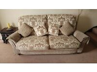 Three piece suite - sofa and two chairs