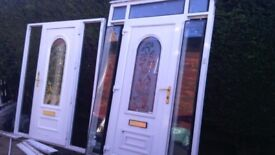 3 upvc doors includes 1 front complete conservatory unit with glass ready