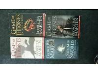4 game of thrones books
