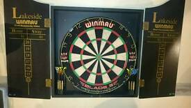 Dart board & cabinate