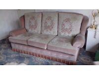 dusky pink 3 piece draylon suite