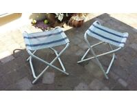 Folding stools and table. Stools convert to side tables. Ideal for camping
