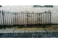 Pair of cast iron driveway gates