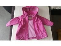 Girls autumn coat 1-2y
