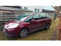Citroen C4 Grande Picaso MPV 2008 1.6 Diesel. Manual. (7 seats). 104000 miles. Turbo faulty.