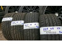 205 45 17 MATCHING SAILUN ATTREZZO TYRES X4 £140 FREE FITTING AND BALANCE OPEN 7 DAYS