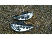Peugeot 206 head lights
