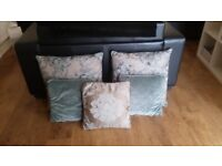 Dunnes Gorgeous Teal and gold floral cushions