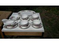 Vintage tea set floral shabby chic wedding