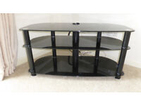 """Black glass TV stand to suit 40"""" TV"""