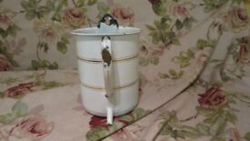 french enamel douche pot