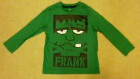 Halloween Frankenstein shirt (age 4-5)