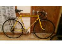 Yellow mens road bike 1960s-1970s