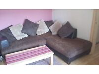 FAUX LEATHER SOFA - PRICE REDUCED -HAS TO GO ASAP