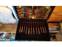 Fabulous Viners 44pc Balmoral Bronze Cutlery Canteen - January Sale!! £80 - Priced to sell