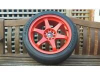 Japan racing jr3 alloy wheels x4 honda subaru 5x100\114.3