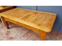 Mexican Vintage Wooden Coffee Table in Good Condition
