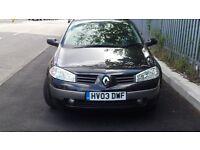 Renault Megane 1.4 petrol 5 door manual in black 04/17 mot