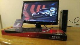 HP Slim Small Home & Business PC Desktop Computer & LG 20 LCD Widescreen