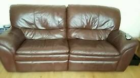 Brown 3 seater settee for sale .