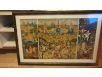 Professionally framed Bosch print