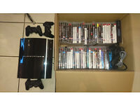 Playstation 3 + 3 Controllers + 54 Games!