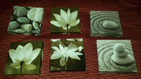 Small 6 flower stone canvas