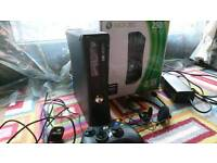 Xbox 360 S 250gb with 3 controllers, 9 games