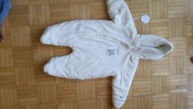 Baby Boy Girl All in One Snowsuit Pramsuit size 62 (0-3 months)