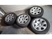 Winter Tyres with Alloys for Audi Volkswagen VW Seat Skoda