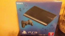 boxed ps3 slim 12gb with 120 hdd + 48 games and extras, perfect xmas prezzie like new .