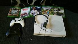 Xbox one S & 2 controllers 5 games
