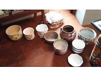 Selection of various sized plant pots