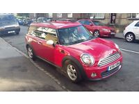 Red Mini Clubman, fantastic condition, 2 prev. owners