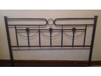 BEAUTIFUL VICTORIAN STYLE METAL DOUBLE BEDSTEAD BLACK