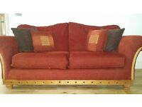 Sofa - 4 x 3 Seater fabric, very comfortable and in excellent condition with a beautiful design