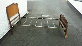 Queen size frame bed for sale - no mattress or wooden batons