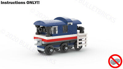 CUSTOM LEGO TRAIN MOC CABOOSE for the POLYBAG set #30575 INSTRUCTIONS
