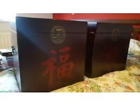 Chinese Storage Boxes/Chests - Set of 2 USED