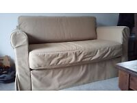 Ikea sofa bed, beige cover, 1 year old