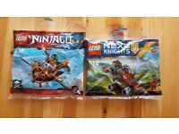 Two mini LEGO models