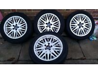 "Genuine volvo alloy wheels & tyres 17"" v70 crosscountry s60 s40 v50 s80"