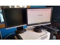 """ViewSonic VA1616w 15.6"""" LCD Monitors VA1616W (Black) dual set up"""