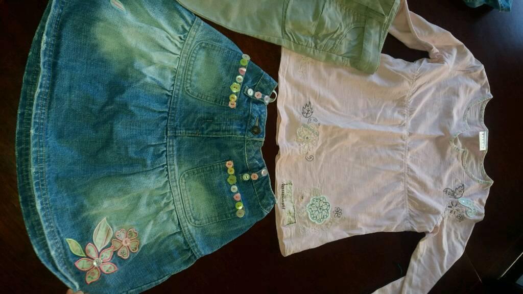 Girls Next denim skirt next top next trousers makes 2 outfits