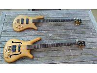 2 x Special Neck Through Warwick Bass Guitar - 1991 Infinette & 1990 Streamer Ltd Edition