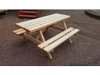 Brand New 5ft x 5ft Heavy Duty Picnic Tables