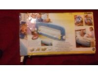 BRAND NEW TOMY SOFT BED RAIL (BLUE) 18MTHS +
