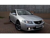 2003 Honda Accord 2.0 Vtec Sport with Atera aluminium roof bars being sold with car