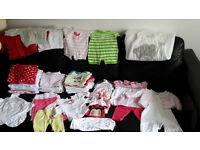 baby girl bundle clothes OVER 50 ITEMS